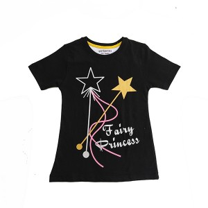 Girl T-Shirt H/L FP Black