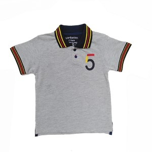 Boys Polo T-Shirt H/L Gray