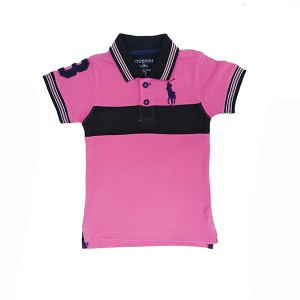 Boys Polo Shirt H/L Pink