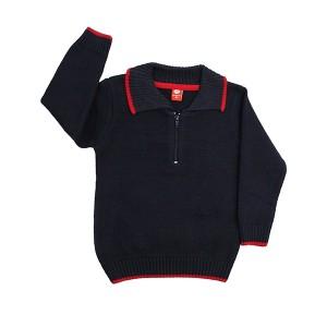 Boys Sweater Zip Navy