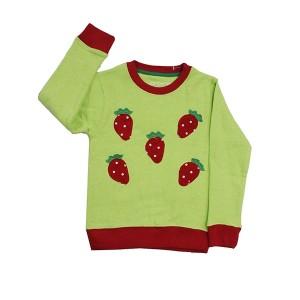 Girls Sweatshirt Strawberries