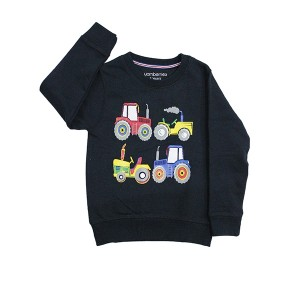 Boys Sweatshirt Tractors Navy