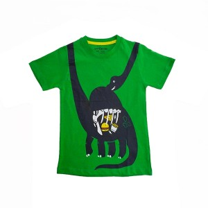 Boys T.shirt H/L Dinosaur Green