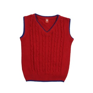 Boys Sweater SL-V Neck Red