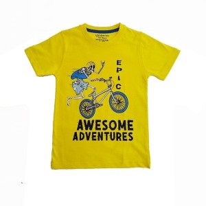 Boys T.shirt H/L Bicycle Yellow