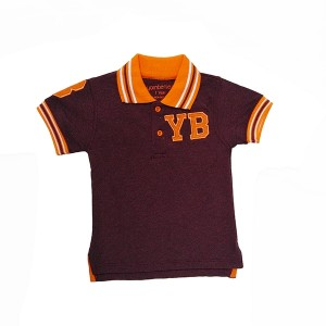 Boys Polo T-Shirt H/L Brown