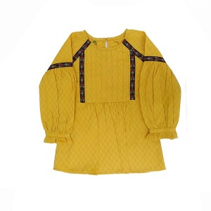 Girl Cotton Top SP Lace Yellow