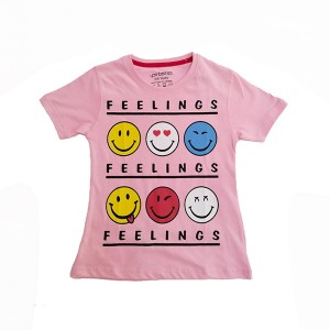 Girls T.shirt H/L Feeling Pink