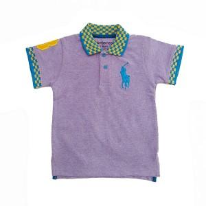 Boys Polo T-Shirt H/L Purple