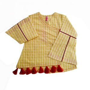 Girls cotton Top Hline Tassel