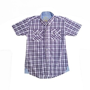 Boys cotton shirt H/L chk