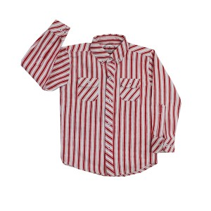 Boys Flannel Shirt Red/Wht AFP
