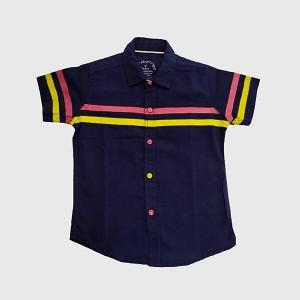 Boys Polo Chambray Shirt Navy