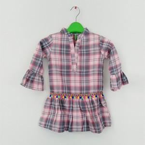 Girl Flannel Top Chk Multi