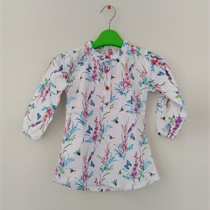 Girl Flannel Top B/Flow Multi