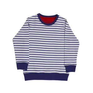 Boys sweat shirt terry/stripes