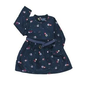 Girls Corduroy Top Belt/Flowers