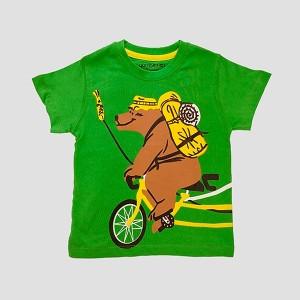 Boys T Shirt H/L Bear Green